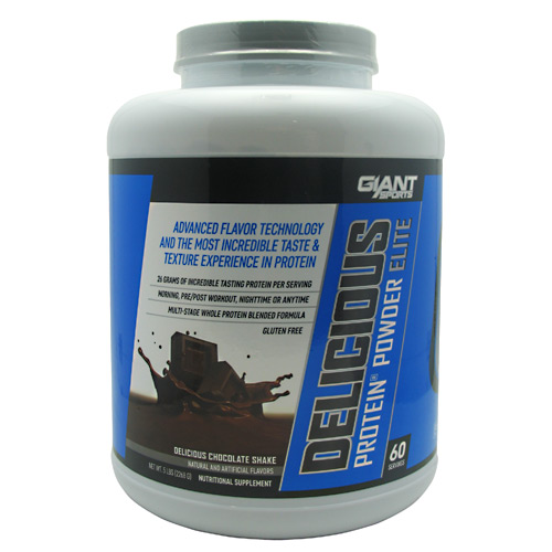 Giant Sports Products Delicious Protein Elite - Delicious Chocolate Shake - 5 lb