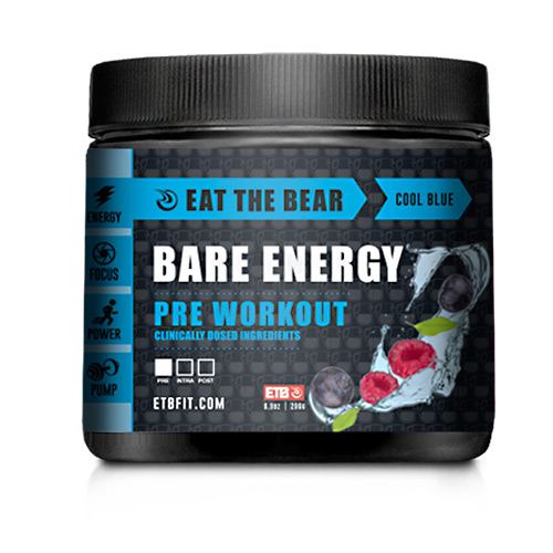 Eat The Bear Bare Energy - Cool Blue - 30 ea