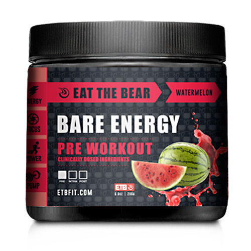 Eat The Bear Bare Energy - Strawberry Watermelon - 30 ea
