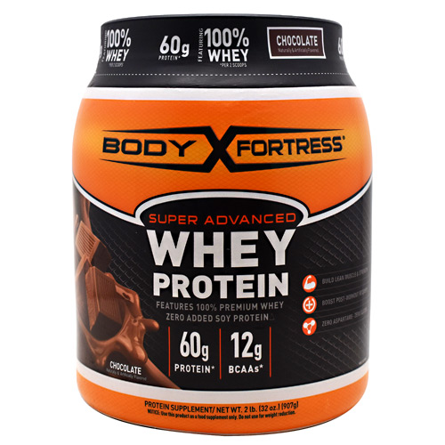 Body Fortress Super Advanced Whey Protein - Chocolate - 2 lb