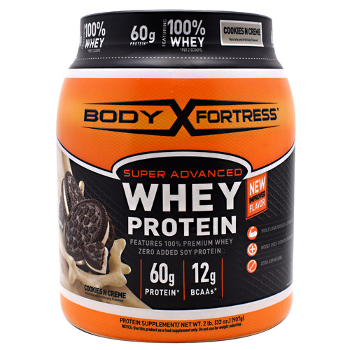 Body Fortress Super Advanced Whey Protein - Cookies N Creme - 2 lb