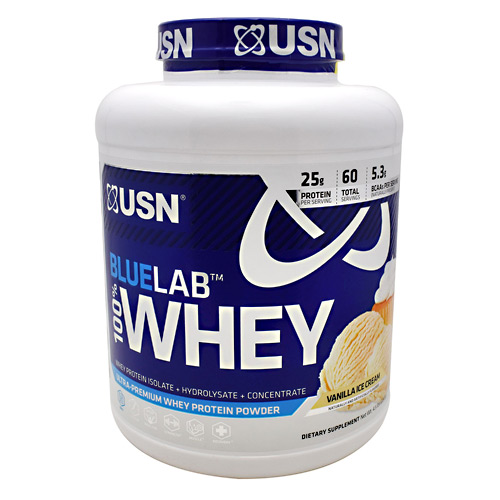 USN Blue Lab 100% Whey - Vanilla Ice Cream - 4.5 lb