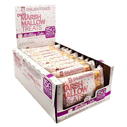 Beyond Better Foods Enlightened Crispy Marshmallow Treats - Birthday Cake - 10 ea
