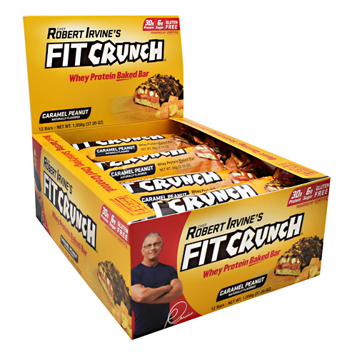 Fit Crunch Bars Fit Crunch Bar - Caramel Peanut - 12 ea