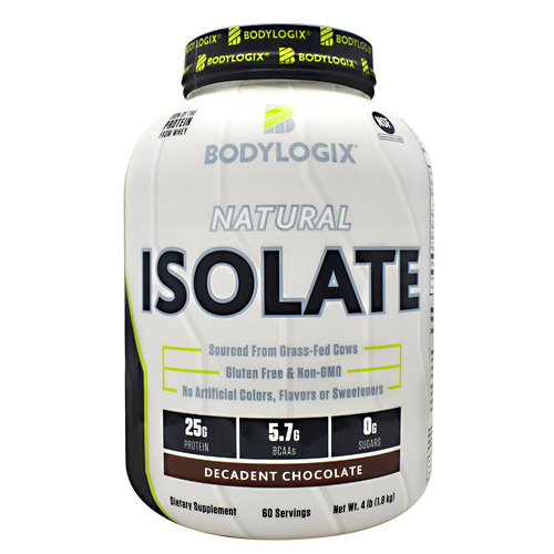 BodyLogix Natural Isolate Protein - Decadent Chocolate - 4 lbs