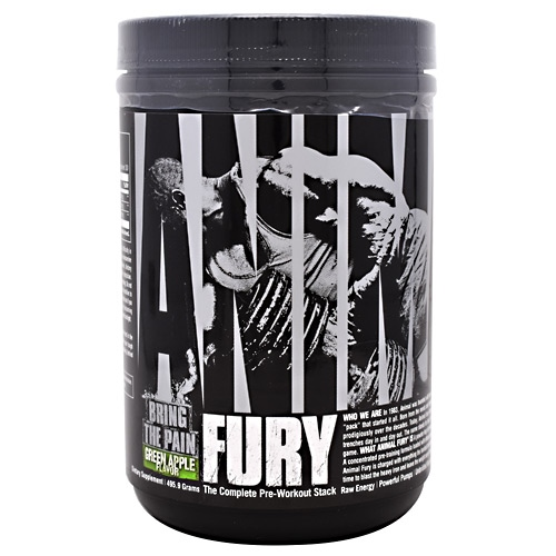 Universal Nutrition Animal Fury - Green Apple - 30 ea