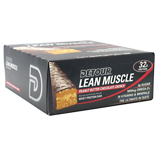 Forward Foods Detour Lean Muscle Whey Protein Bar - Peanut Butter Chocolate Crunch - 12 ea