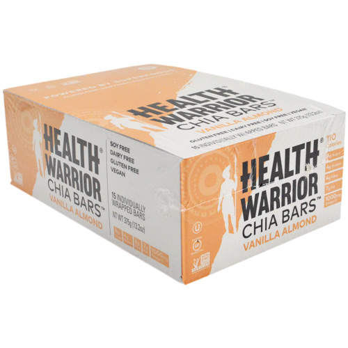Health Warrior Chia Bar - Vanilla Almond - 15 ea