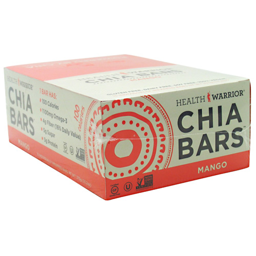 Health Warrior Chia Bar - Mango - 15 ea