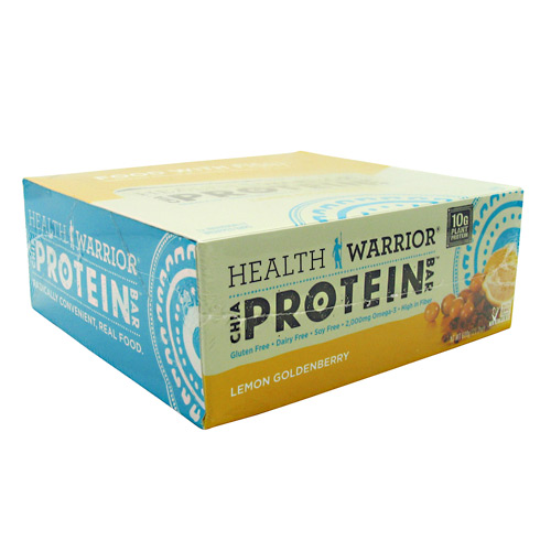 Health Warrior Chia Protein Bar - Lemon Goldenberry - 12 ea