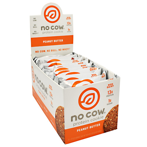 Ds Naturals No Cow Protein Cookie - Peanut Butter - 12 ea