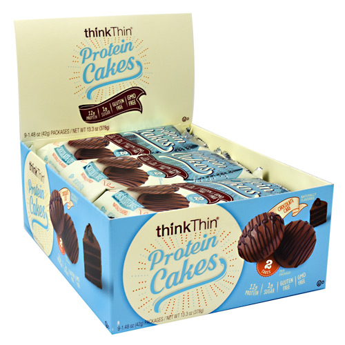 Think Products Protein Cakes - Chocolate Cake - 9 ea