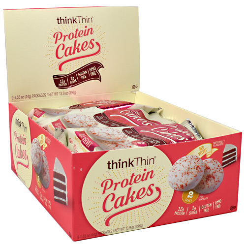Think Products Protein Cakes - Red Velvet - 9 ea