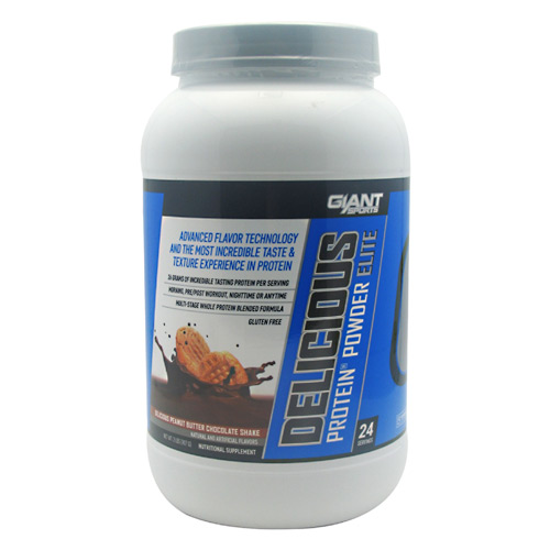 Giant Sports Products Delicious Protein - Delicious Peanut Butter Chocolate Shake - 2 lb
