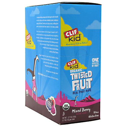 Clif Kid Organic Twisted Fruit - Mixed Berry - 18 ea