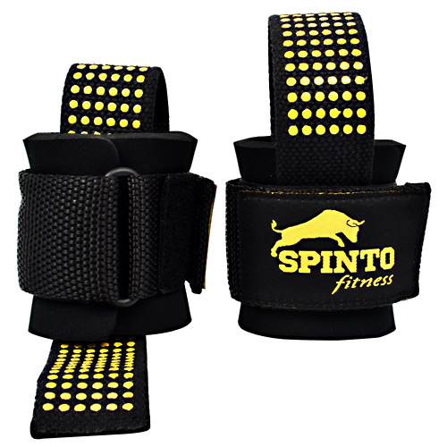 Spinto Fitness Heavy Duty Lifting Straps - Black