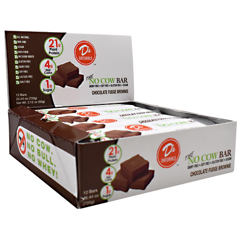 Ds Naturals No Cow Bar - Chocolate Fudge Brownie - 12 ea