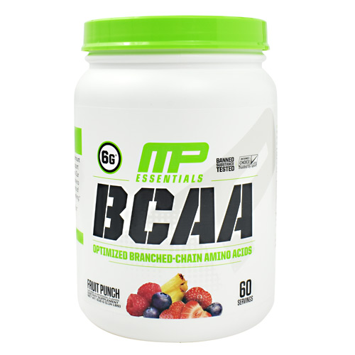 MusclePharm Essentials BCAA - Fruit Punch - 60 ea
