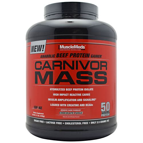 Muscle Meds Carnivor Mass - Chocolate Fudge - 5.7 lb