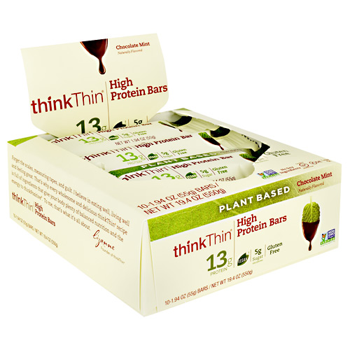 Think Products Plant Based High Protein Bar - Sea Salt Almond Chocolate - 10 ea