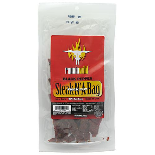 Runnin Wild Foods Steak N A Bag Thick Cut - Black Pepper - 3.25 oz