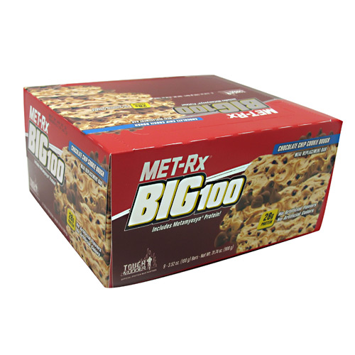 Met-Rx USA Big 100 Colossal - Chocolate Chip Cookie Dough - 9 ea