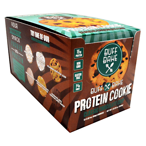 Buff Bake Protein Cookie - Classic Chocolate Chip - 12 ea