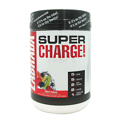 Labrada Nutrition Super Charge 5.0 - Fruit Punch - 25 ea
