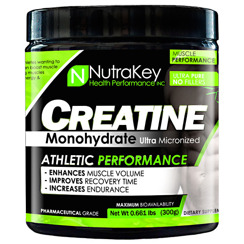 Nutrakey Creatine Monohydrate - Unflavored - 300 g
