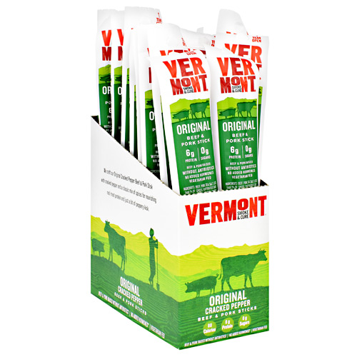Vermont Smoked Meats Beef & Pork Sticks - Original Cracked Pepper - 24 ea