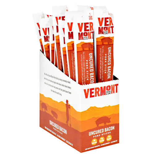 Vermont Smoked Meats Pork Sticks - Uncured Bacon - 24 ea