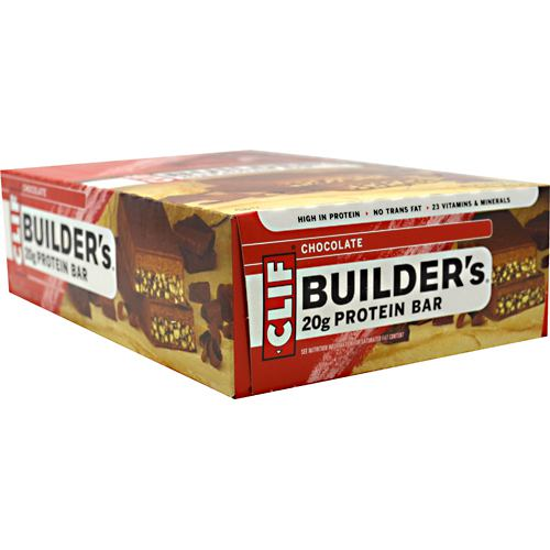 Clif Bar Builders Cocoa Dipped Double Decker Crisp Bar - Chocolate - 12 ea