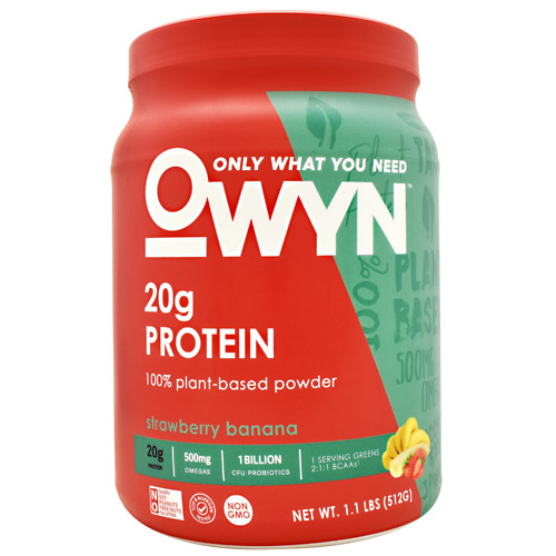 Only What You Need Plant Protein - Strawberry Banana - 14 ea