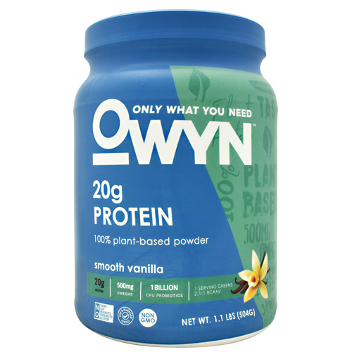 Only What You Need Plant Protein - Smooth Vanilla - 14 ea