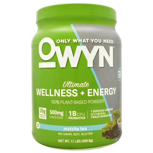 Only What You Need Energy Plant Protein - Matcha Tea - 14 ea