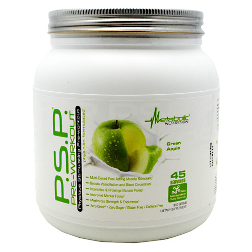 Metabolic Nutrition P.S.P Pre-Workout - Green Apple - 360 g