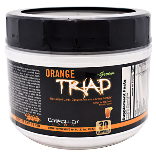 Controlled Labs Orange Triad + Greens - Lemon Ice Tea - 30 ea