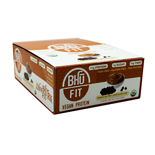 Bhu Foods BHU FIT BHU Fit Vegan Protein - Peanut Butter Chocolate Chip - 12 ea