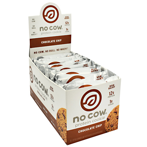 Ds Naturals No Cow Protein Cookie - Chocolate Chip - 12 ea