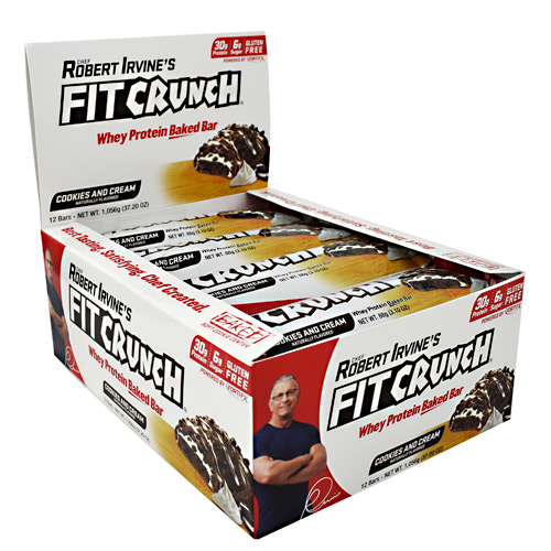 Fit Crunch Bars Fit Crunch Bar - Cookies & Cream - 12 ea