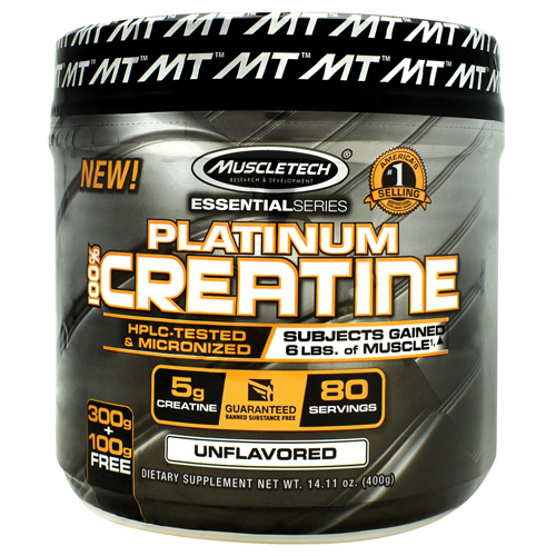 Muscletech Essential Series Platinum 100%Creatine - Unflavored - 80 ea