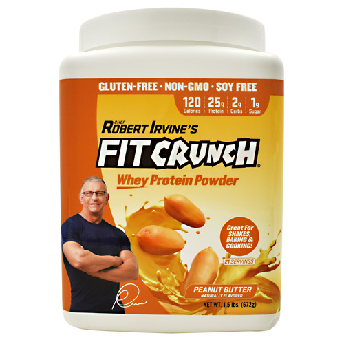 Fit Crunch Bars Fit Crunch Whey Protein - Peanut Butter - 21 ea
