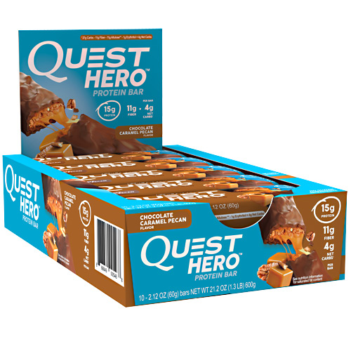 Quest Nutrition Hero Bar - Chocolate Caramel Pecan - 10 ea