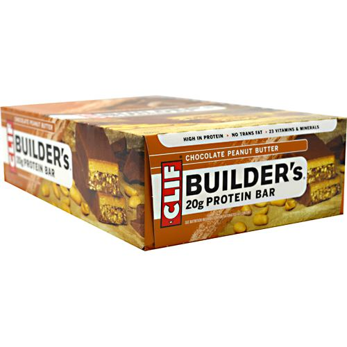Clif Bar Builders Cocoa Dipped Double Decker Crisp Bar - Chocolate Peanut Butter - 12 ea