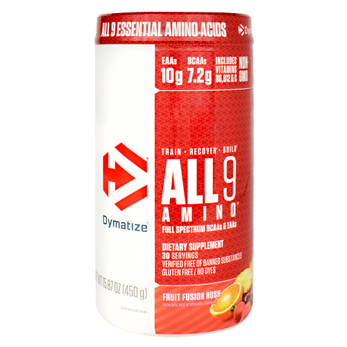Dymatize All 9 Amino - Fruit Fusion Rush - 30 ea