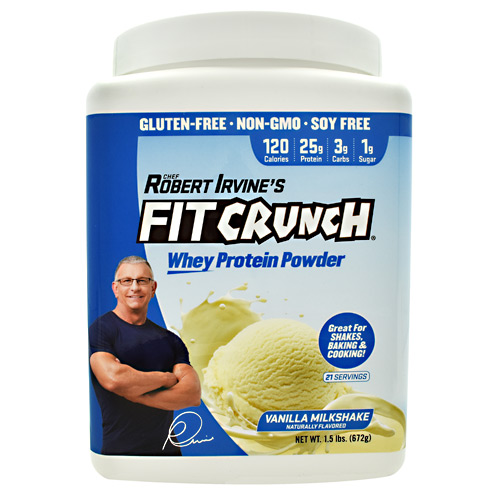 Fit Crunch Bars Fit Crunch Whey Protein - Vanilla Milkshake - 21 ea