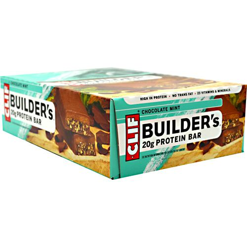 Clif Bar Builders Cocoa Dipped Double Decker Crisp Bar - Chocolate Mint - 12 ea