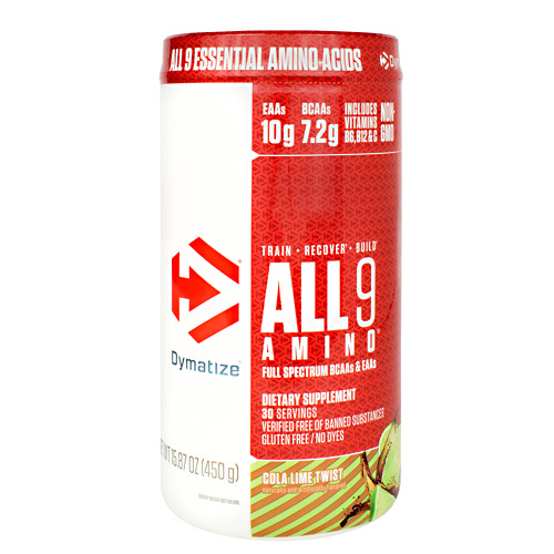 Dymatize All 9 Amino - Cola Lime Twist - 30 ea