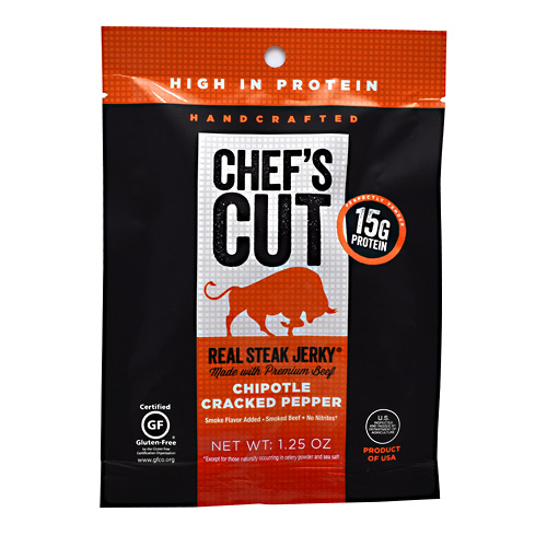 Chefs Cut Real Jerky Real Steak Jerky - Chipotle Cracked Pepper - 1.25 oz