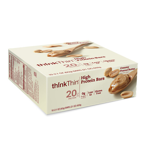 Think Products Think Thin Bar - Creamy Peanut Butter - 10 ea